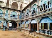 Beautiful view of wrestling courtyard inside the royal Palace