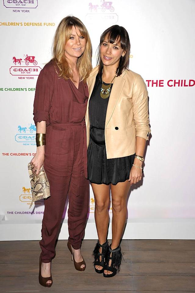 """Grey's Anatomy"" star Ellen Pompeo donned a Stella McCartney jumpsuit, while ""Parks and Recreation"" actress Rashida Jones paired a Phillip Lim jacket with a black Olivier Theyskens for Theory dress. John Shearer/<a href=""http://www.gettyimages.com/"" target=""new"">GettyImages.com</a> - April 20, 2011"