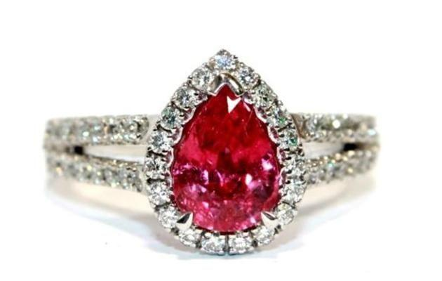 18ct white gold ruby and diamond ring. Image: Cash Converters