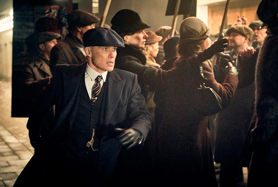 Cillian Murphy, as the British gang leader Tommy Shelby on Peaky Blinders.
