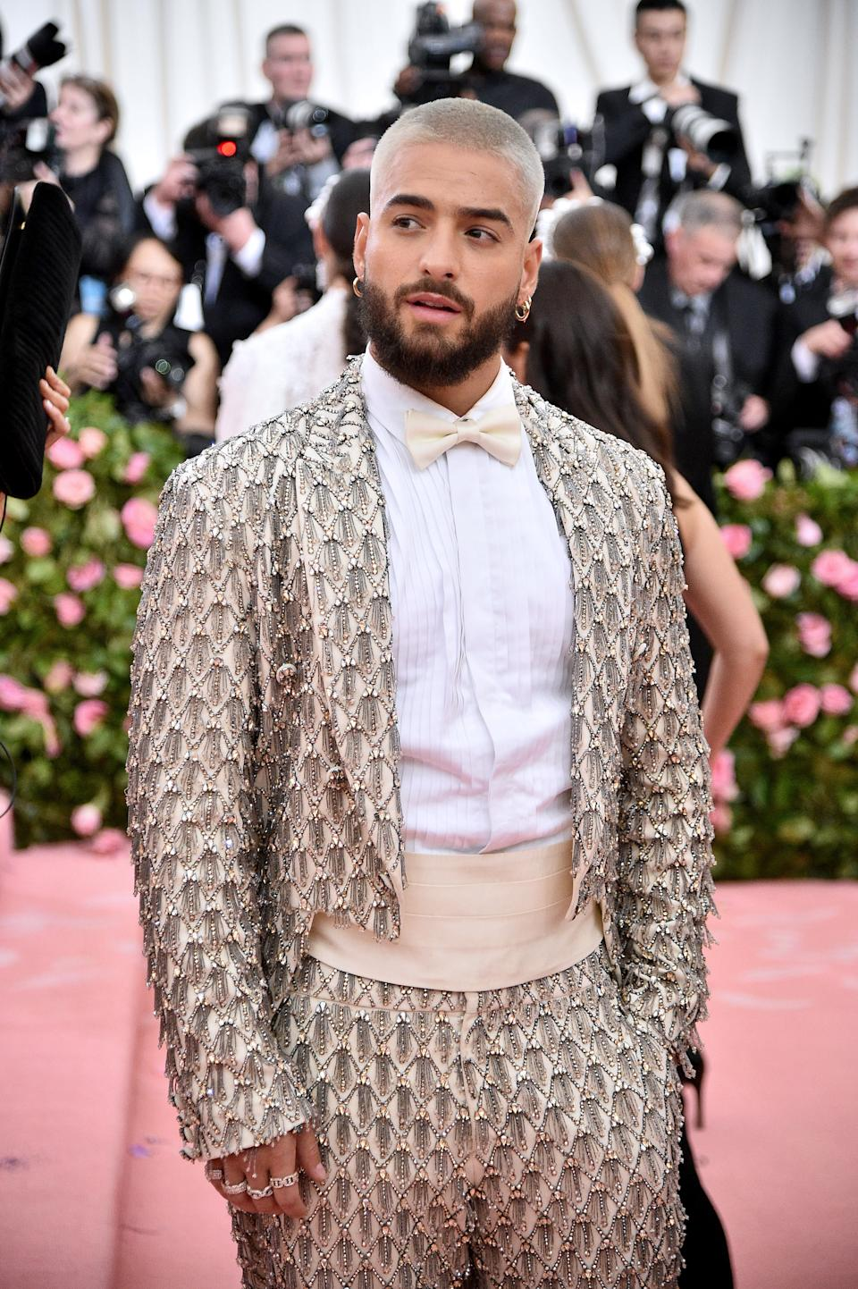 """<h1 class=""""title"""">Maluma in Moschino by Jeremy Scott</h1><cite class=""""credit"""">Photo: Getty Images</cite>"""