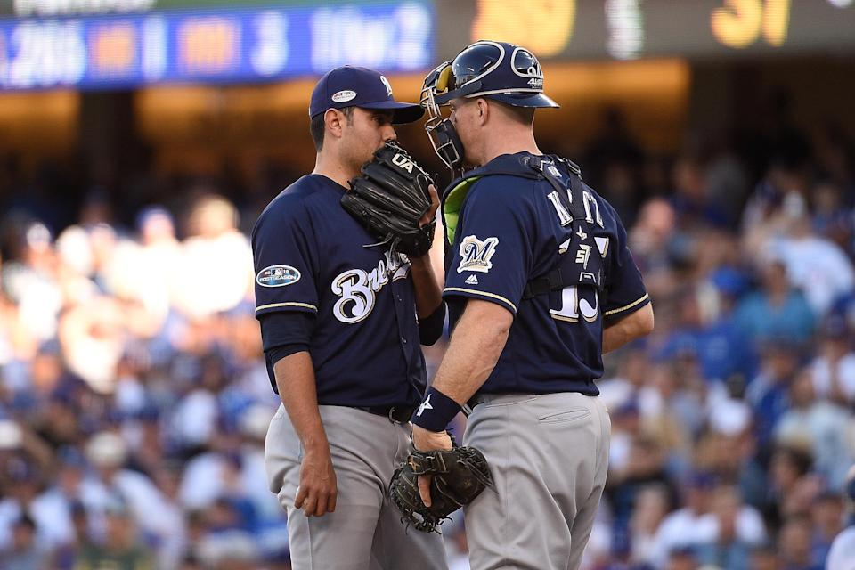 While they have no direct evidence, the Brewers suspect the Dodgers are using video to steal their signs in the NLCS. (Getty Images)