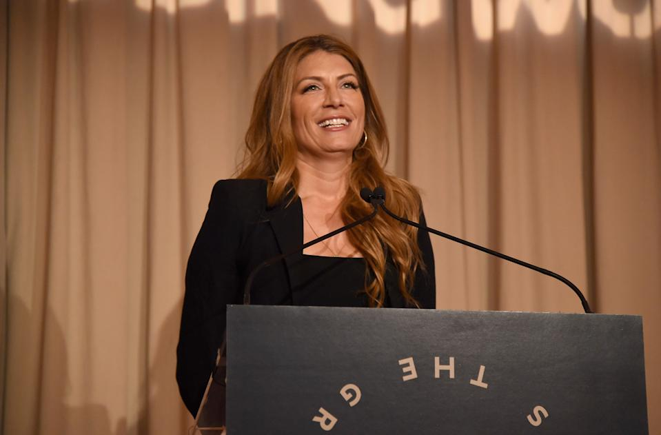 NEW YORK, NY - APRIL 20:  Host Genevieve Gorder speaks onstage during the Housing Works Groundbreaker Awards Dinner at Metropolitan Pavilion on April 20, 2016 in New York City.  (Photo by Gary Gershoff/Getty Images for Housing Works)