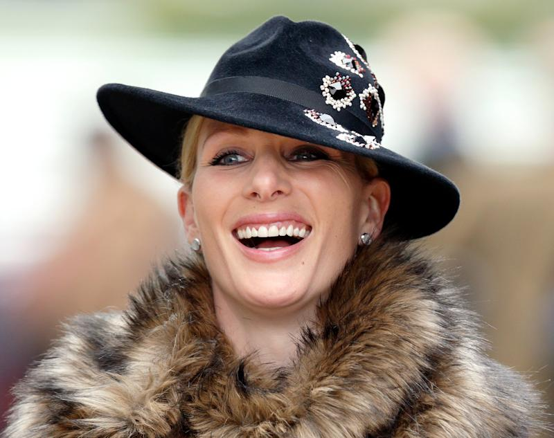 CHELTENHAM, UNITED KINGDOM - MARCH 16: (EMBARGOED FOR PUBLICATION IN UK NEWSPAPERS UNTIL 48 HOURS AFTER CREATE DATE AND TIME) Zara Phillips attends day 3 of the Cheltenham Festival at Cheltenham Racecourse on March 16, 2017 in Cheltenham, England. (Photo by Max Mumby/Indigo/Getty Images)