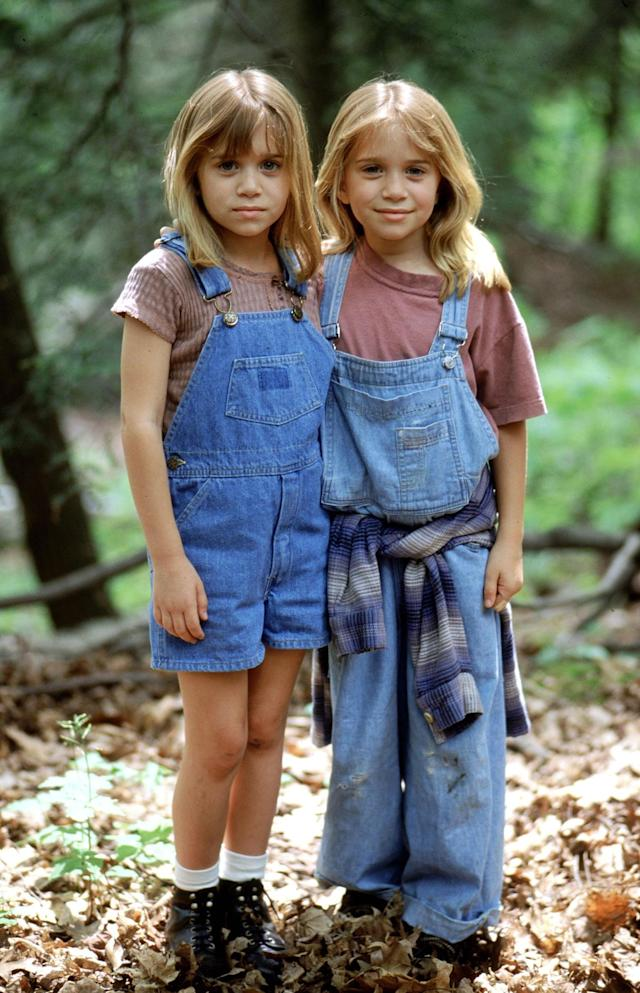 <p>Mary-Kate and Ashley in grungy and proper overall style in 'It Takes Two'. (Photo: Alamy) </p>