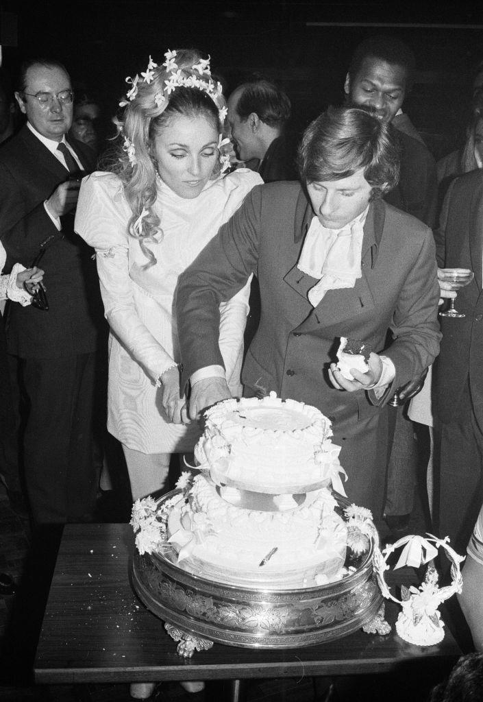 <p>Tate and Polanski celebrated their nuptials with an A-list Hollywood crowd during their reception at the London Playboy Club. </p>