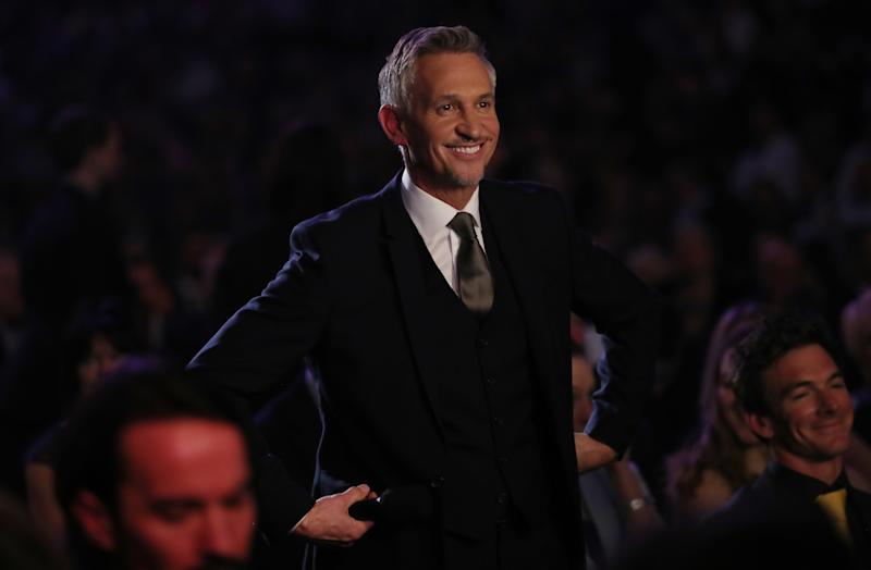 Gary Lineker during the BBC Sports Personality of the Year 2017 at the Liverpool Echo Arena.
