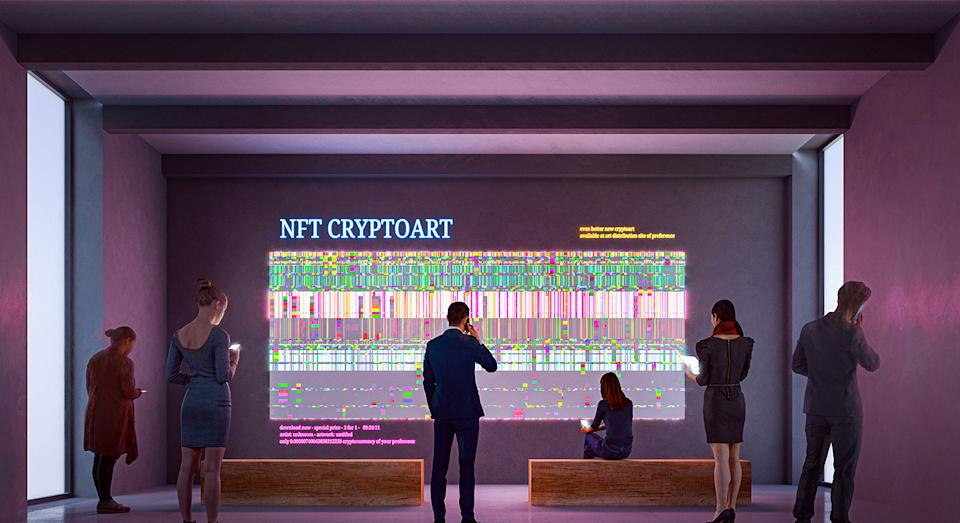 NFTs are a game-changing digital art. (Getty Images)