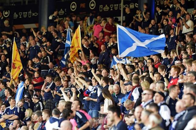 Scotland's top flight clubs could be back training in June (AFP Photo/ANDY BUCHANAN)