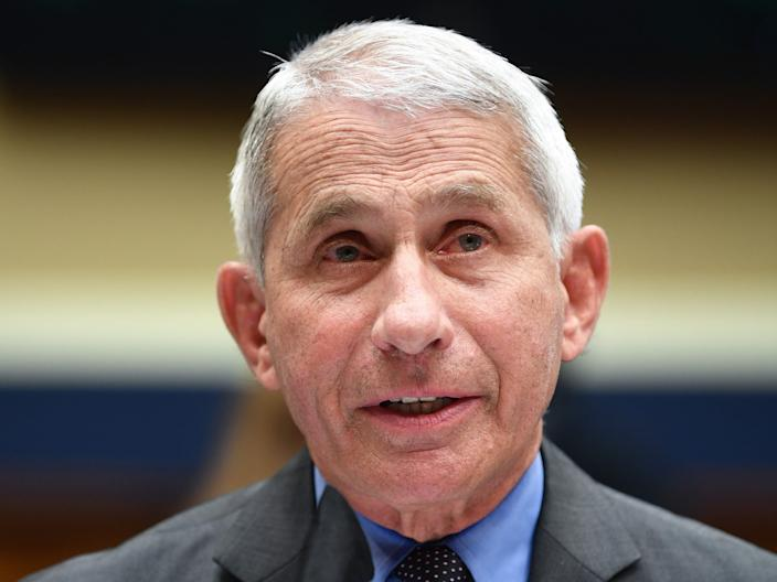 """Dr. Anthony Fauci, Director of the National Institute for Allergy and Infectious Diseases, testifies before the US Senate Health, Education, Labor, and Pensions Committee hearing to examine COVID-19, """"focusing on lessons learned to prepare for the next pandemic"""", on Capitol Hill in Washington, DC on June 23, 2020."""