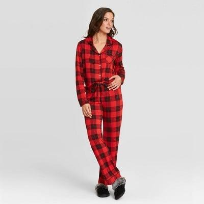 <p>You can never go wrong with the cozy <span>Stars Above Women's Beautifully Soft Long Sleeve Notch Collar Top and Pants Pajama Set</span> ($30).</p>