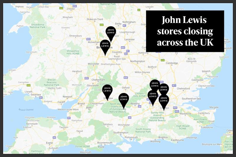 A map of store closures