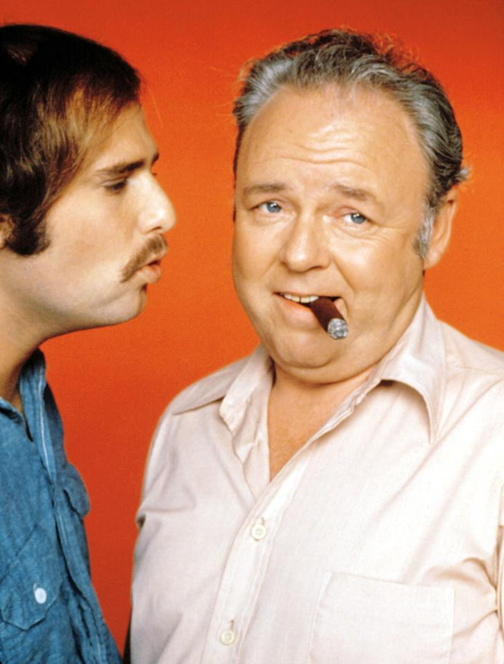 """Archie Bunker and Michael """"Meathead"""" Stivic (""""All in the Family"""")"""