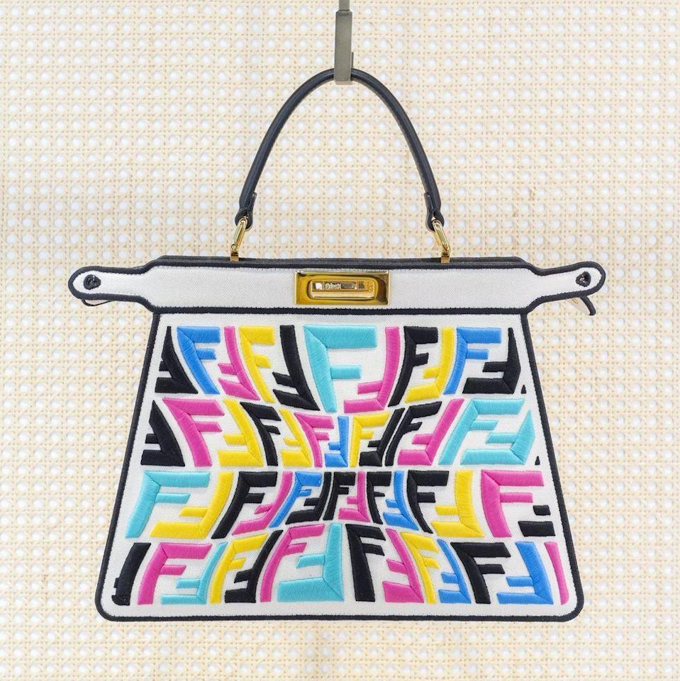 "<p>Sarah Coleman has taken creative control of the Miami Design District Fendi store and designed an array of limited edition unique pieces that mix prints and pattern synonymous to the Italian brand. Pick up a speciality peek-a-boo for the artist in your life.</p><p>Fendi bag, price upon request, <a href=""https://www.fendi.com/us/"" rel=""nofollow noopener"" target=""_blank"" data-ylk=""slk:fendi.com"" class=""link rapid-noclick-resp"">fendi.com</a>.</p>"