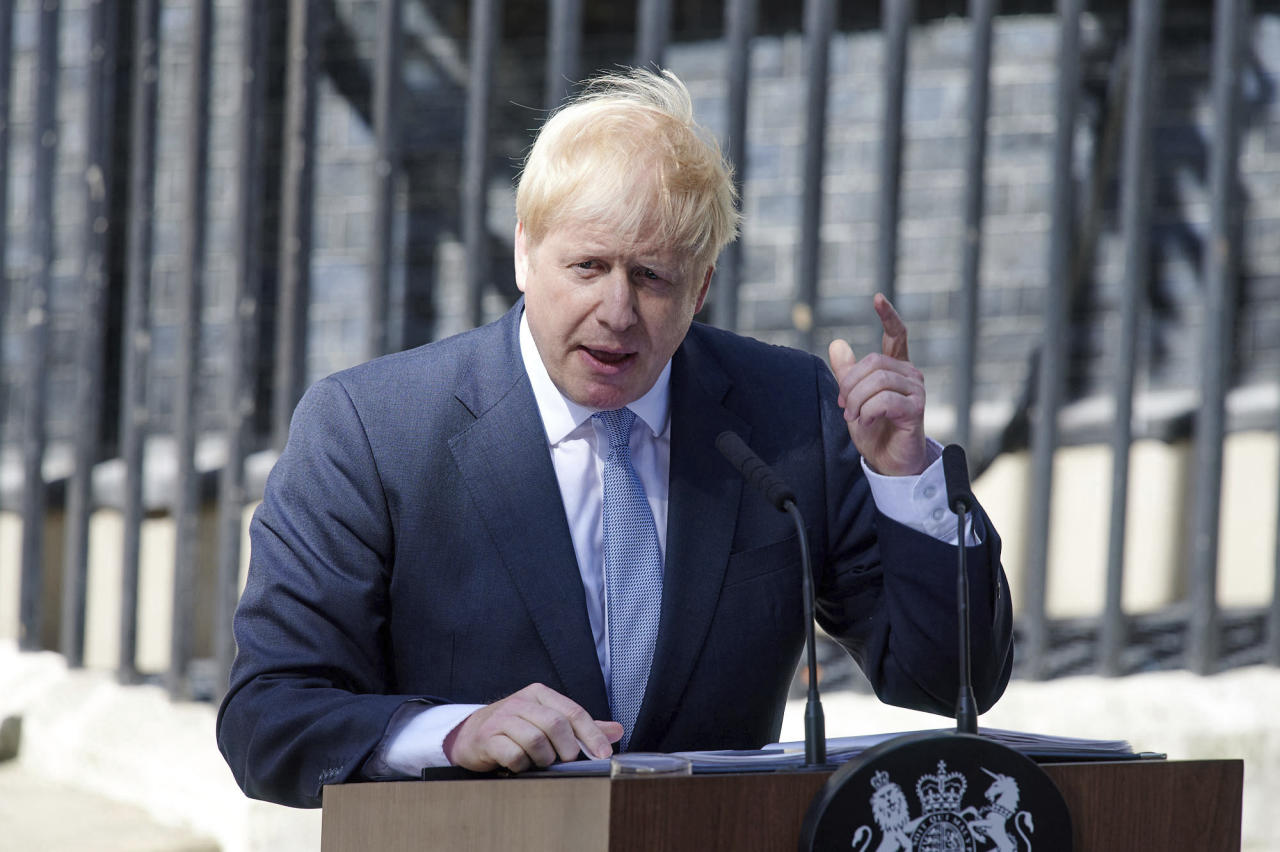 The United Kingdom has 200 nuclear weapons - with 120 of them deployed. These Trident intercontinental ballistic missiles are based on submarines, with the UK declaring it is prepared to use them first in order to defend its people. <em>Picture: UK Prime Minister Boris Johnson (AP)</em>