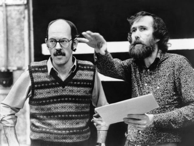 Frank Oz and Jim Henson on the set of <i>The Dark Crystal</i>. (Credit: Universal Pictures/Courtesy Everett Collection)