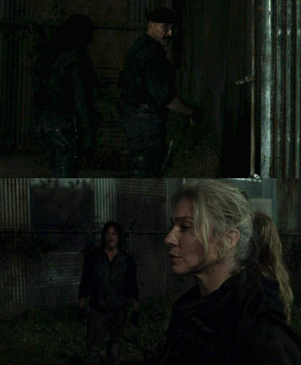 TWD 1106 Daryl Leah and Pope