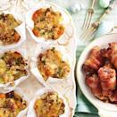 """<p>A tasty, vegetarian alternative that will be loved by all.</p><p><strong>Recipe: <a href=""""https://www.goodhousekeeping.com/uk/food/recipes/a537108/vegetarian-stuffing-muffins/"""" rel=""""nofollow noopener"""" target=""""_blank"""" data-ylk=""""slk:Vegetarian stuffing muffins"""" class=""""link rapid-noclick-resp"""">Vegetarian stuffing muffins</a></strong></p>"""