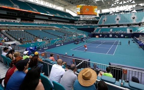 <span>The Miami Open is a far cry from the reality of life for many struggling tennis players</span> <span>Credit: AP </span>