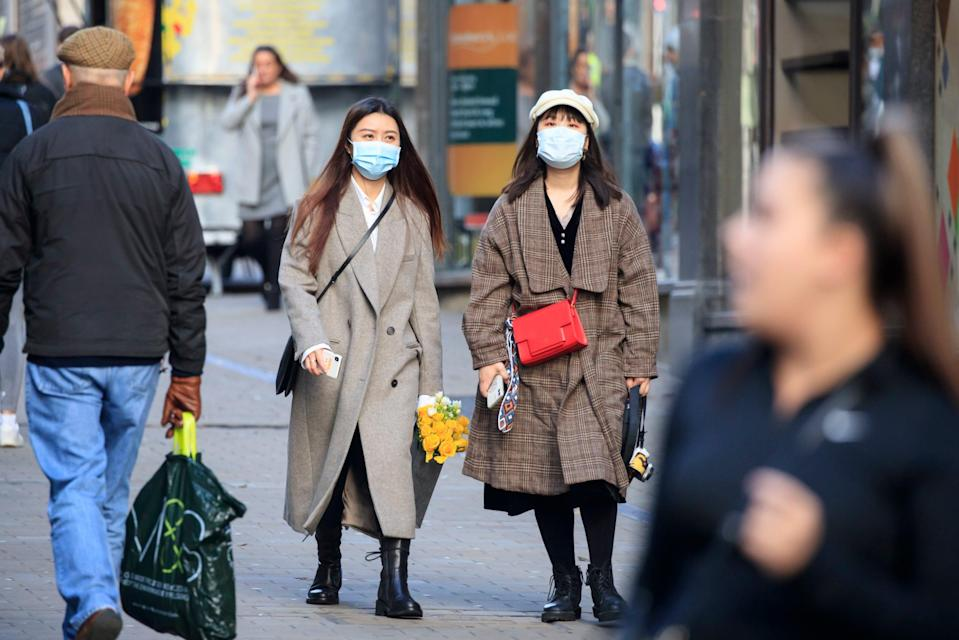 People in Leeds, Yorkshire, which will enter Tier 3, after the four week national lockdown to curb the spread of coronavirus (PA)