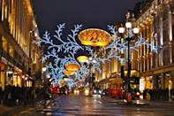 """<p>On November 16, London's most historical Christmas light display will once again turn on. Boasting over 300,000 twinkling LED lights, it's the largest in the capital. Further details are <a href=""""http://www.regentstreetonline.com/events/christmas-lights-switch-on-2017"""" rel=""""nofollow noopener"""" target=""""_blank"""" data-ylk=""""slk:still to be announced"""" class=""""link rapid-noclick-resp"""">still to be announced</a> but expect VIP appearances and live entertainment as well as a late-night shopping event. </p>"""