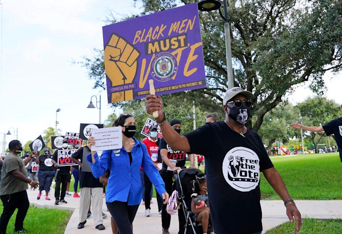 Despite a popular ballot initiative that sought to restore their voting rights, only 80,000 of 1.4 million Floridians with felony convictions registered to vote in 2020, a newspaper investigation found.