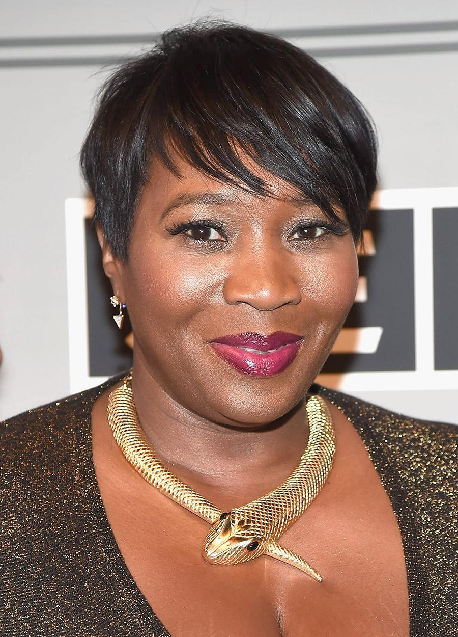 <p>Radio host and style influencer Bevy Smith attended the 2017 Sesac Pop Music Awards in New York City. She gave us modern-day Audrey Hepburn vibes with her pixie cut and berry lips. (Photo by Gary Gershoff/WireImage) </p>