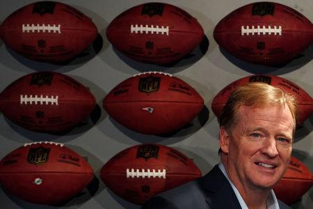 FILE PHOTO: Commissioner of the NFL Roger Goodell is pictured at an event in the Manhattan borough of New York City, New York, U.S., November 30, 2017. REUTERS/Carlo Allegri