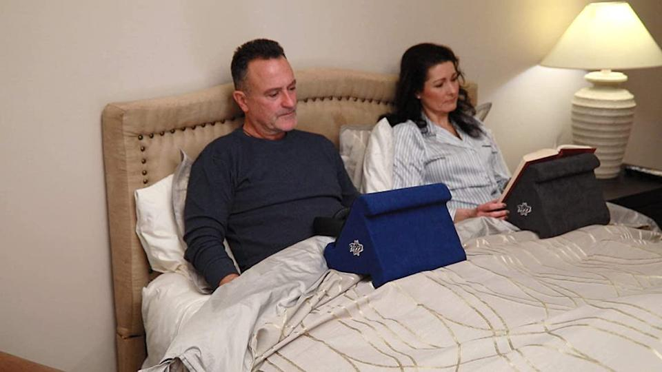 Flippy Multi-Angle Pillow Stand for Tablets. (Photo: HSN)