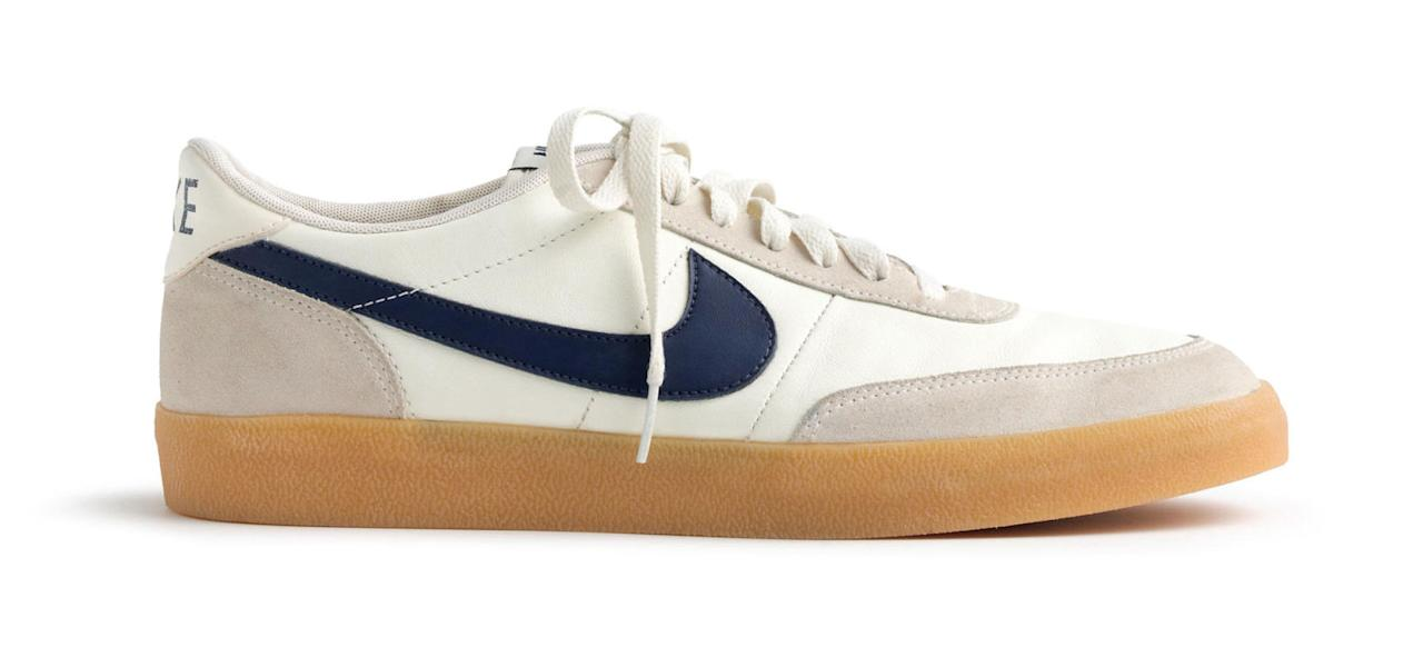 "<p>Nike for J.Crew Killshot 2 Sneakers, $90, <a rel=""nofollow"" href=""https://www.jcrew.com/p/mens_category/shoes/sneakers/nike-for-jcrew-killshot-2-sneakers/85231""><u>jcrew.com</u></a>.<span></span></p>"