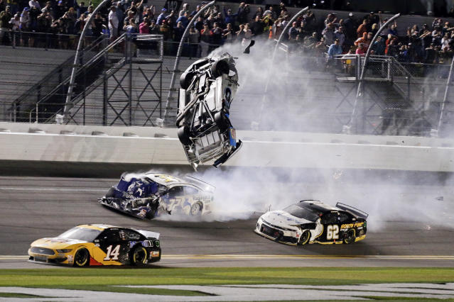The NASCAR community reached out after Monday's terrifying Daytona 500 conclusion. (AP Photo/Terry Renna)