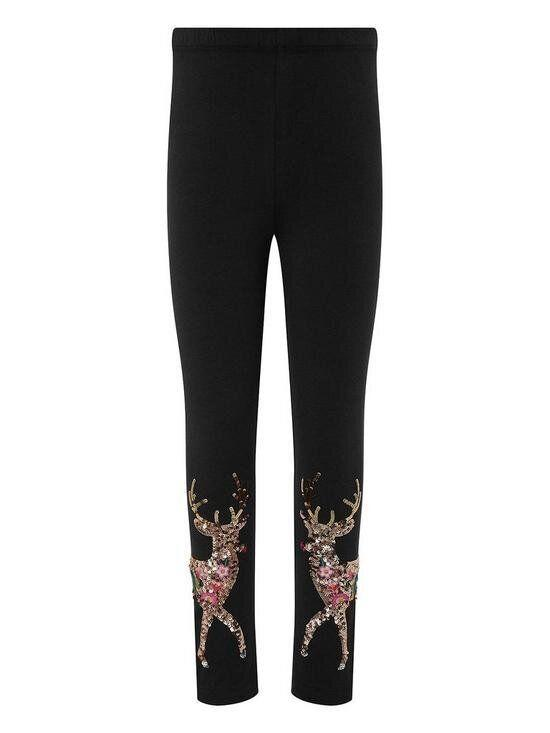 Girls Halle Reindeer Sequin Leggings (Photo: Monsoon/Very.co.uk)