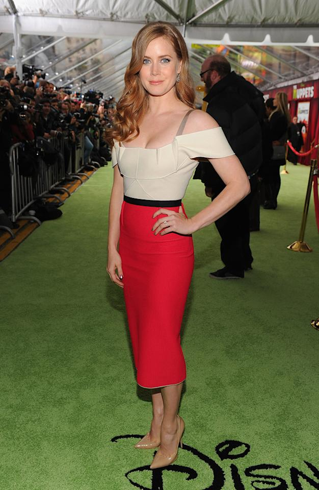 "<a href=""http://movies.yahoo.com/movie/contributor/1800018895"">Amy Adams</a> at the Los Angeles premiere of <a href=""http://movies.yahoo.com/movie/1810188975/info"">The Muppets</a> on November 12, 2011."