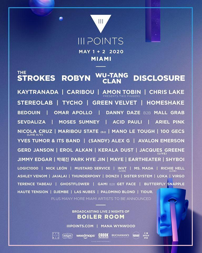iii points 2020 lineup