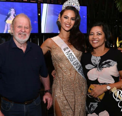 Catriona with her parents