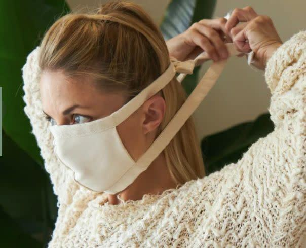 "This mattress company is making masks from two layers of 100% organic cotton canvas and two simple tie straps. They do not use elastic or plastic.<br><a href=""https://www.avocadogreenmattress.com/shop/organic-cotton-face-mask"" rel=""nofollow noopener"" target=""_blank"" data-ylk=""slk:Get the Avocado 4-pack of face masks for $23"" class=""link rapid-noclick-resp""><strong> <br>Get the Avocado 4-pack of face masks for $23</strong></a>"