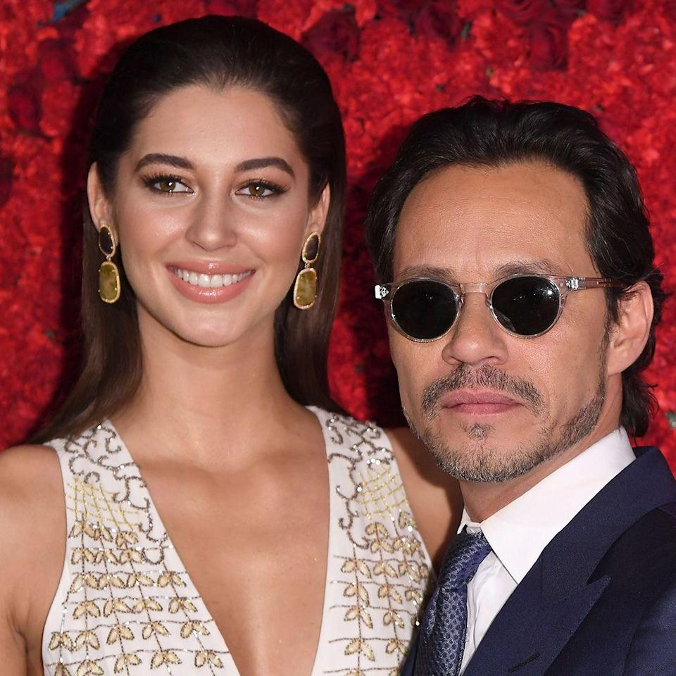 """<p><strong>Age gap: </strong>27 years</p><p>Marc, 49, and Mariana, 22, have been dating for a year, according to <a href=""""https://www.etonline.com/news/213553_marc_anthony_and_girlfriend_mariana_downing_make_red_carpet_debut"""" rel=""""nofollow noopener"""" target=""""_blank"""" data-ylk=""""slk:ET"""" class=""""link rapid-noclick-resp"""">ET</a>. But this isn't his only experience dating a younger woman: He previously dated Shannon De Lima, 30, reports <a href=""""https://people.com/chica/shannon-de-lima-year-after-marc-anthony-divorce/"""" rel=""""nofollow noopener"""" target=""""_blank"""" data-ylk=""""slk:People"""" class=""""link rapid-noclick-resp"""">People</a>.</p>"""