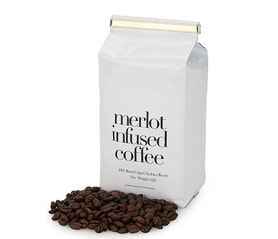 <p>If they also drink coffee, they'll be intrigued by this <span>Merlot Infused Coffee</span> ($20).</p>