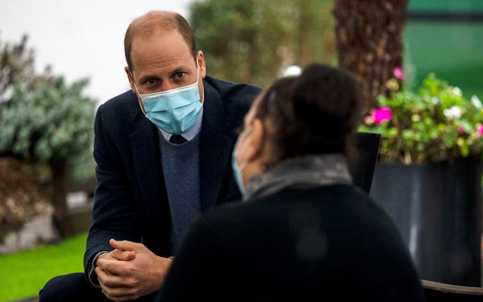 The Duke of Cambridge, President of The Royal Marsden NHS Foundation Trust, during a visit to The Royal Marsden in Sutton - Jack Hill/The Times/PA