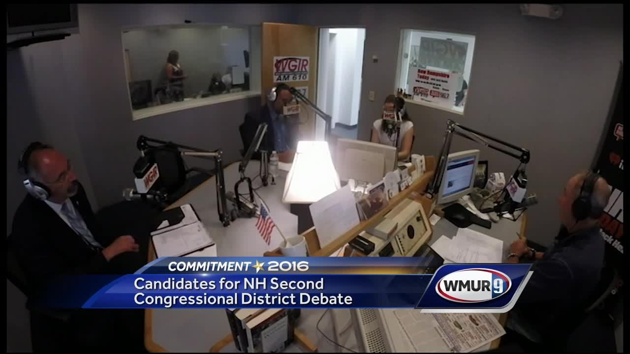 The Republican candidates in the 2nd Congressional District race met in a radio debate Wednesday as they compete to see who will face incumbent U.S. Rep. Annie Kuster in November.