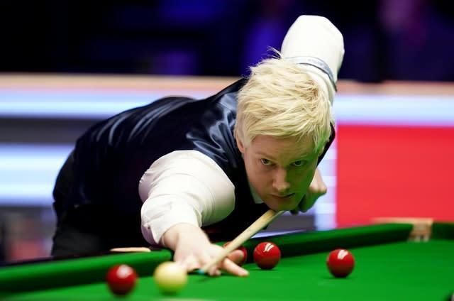 Neil Robertson was among those who praised the staging of the tournament in Milton Keynes (John Walton/PA)