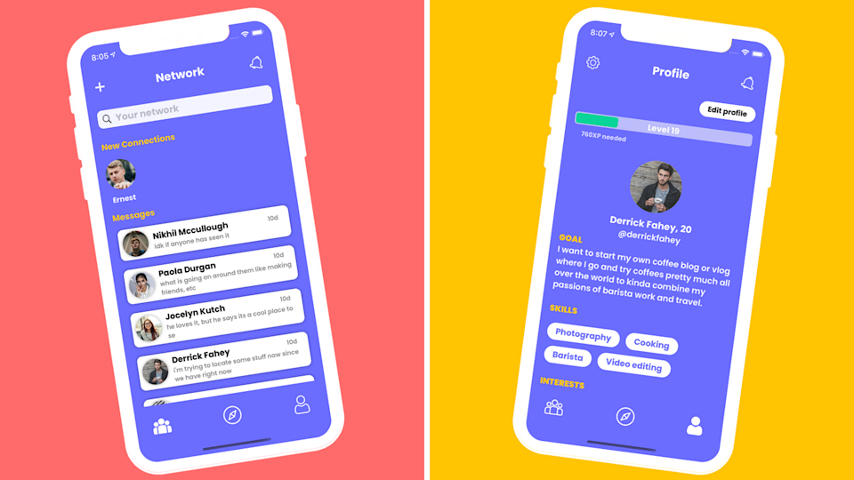 The Grouptag app is designed to facilitate conversations with like-minded people. (Source: Grouptag)
