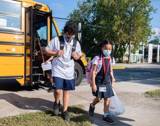 Students in Surrey, B.C., head back to class Sept. 8. Those in Grades 4 and up will have to wear masks while indoors. (Graham Hughes/The Canadian Press - image credit)