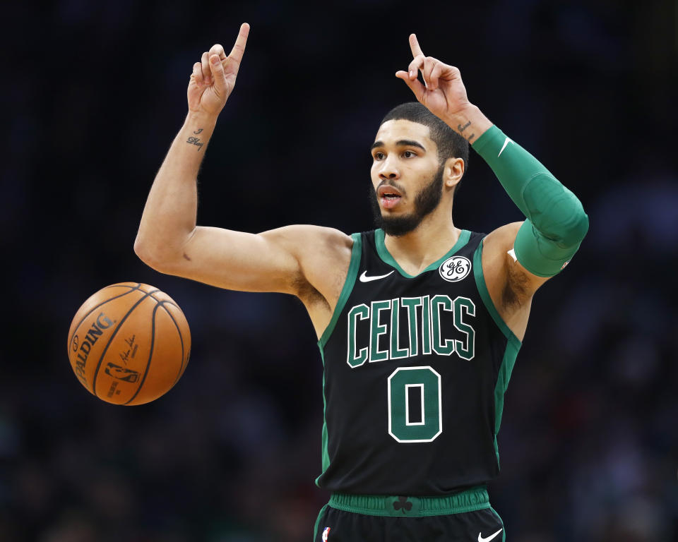 Celtics star Jayson Tatum has taken his game up a level this season. (Omar Rawlings/Getty Images)