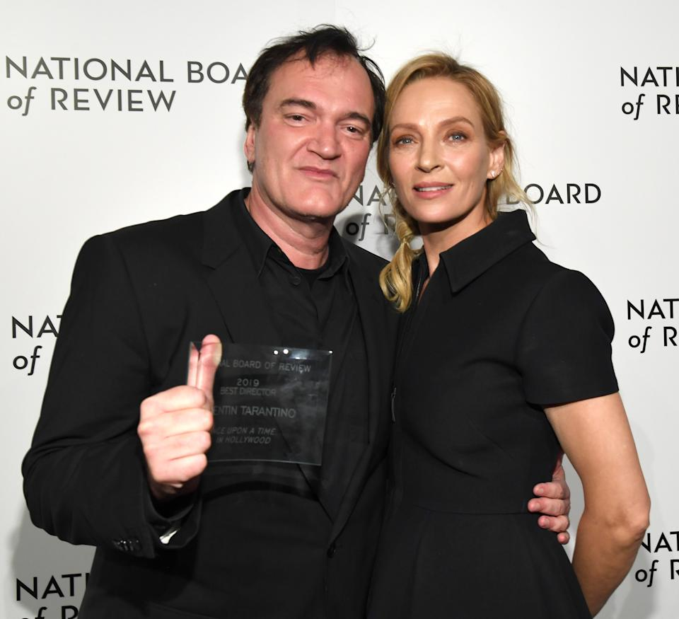 NEW YORK, NEW YORK - JANUARY 08:  Quentin Tarantino and Uma Thurman attend The National Board of Review Annual Awards Gala at Cipriani 42nd Street on January 08, 2020 in New York City. (Photo by Kevin Mazur/Getty Images for National Board of Review)