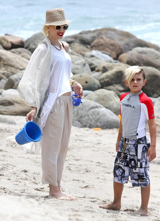 Gwen Stefani and her son Kingston Rossdale. (Photo: Getty Images)