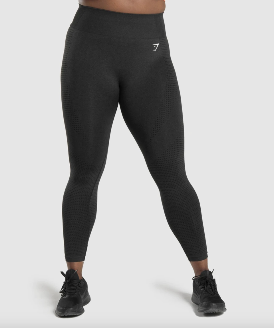 """<p><strong>Gymshark</strong></p><p>gymshark.com</p><p><strong>$50.00</strong></p><p><a href=""""https://go.redirectingat.com?id=74968X1596630&url=https%3A%2F%2Fwww.gymshark.com%2Fproducts%2Fgymshark-vital-seamless-leggings-black-marl-logo&sref=https%3A%2F%2Fwww.harpersbazaar.com%2Ffashion%2Ftrends%2Fg37408593%2Fbest-workout-clothes-according-to-experts%2F"""" rel=""""nofollow noopener"""" target=""""_blank"""" data-ylk=""""slk:Shop Now"""" class=""""link rapid-noclick-resp"""">Shop Now</a></p>"""