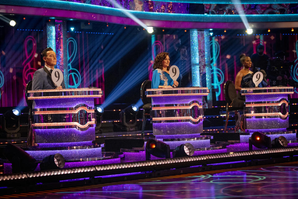 Strictly Come Dancing judges Craig Revel Horwood, Shirley Ballas and Motsi Mabuse. (BBC/Guy Levy)