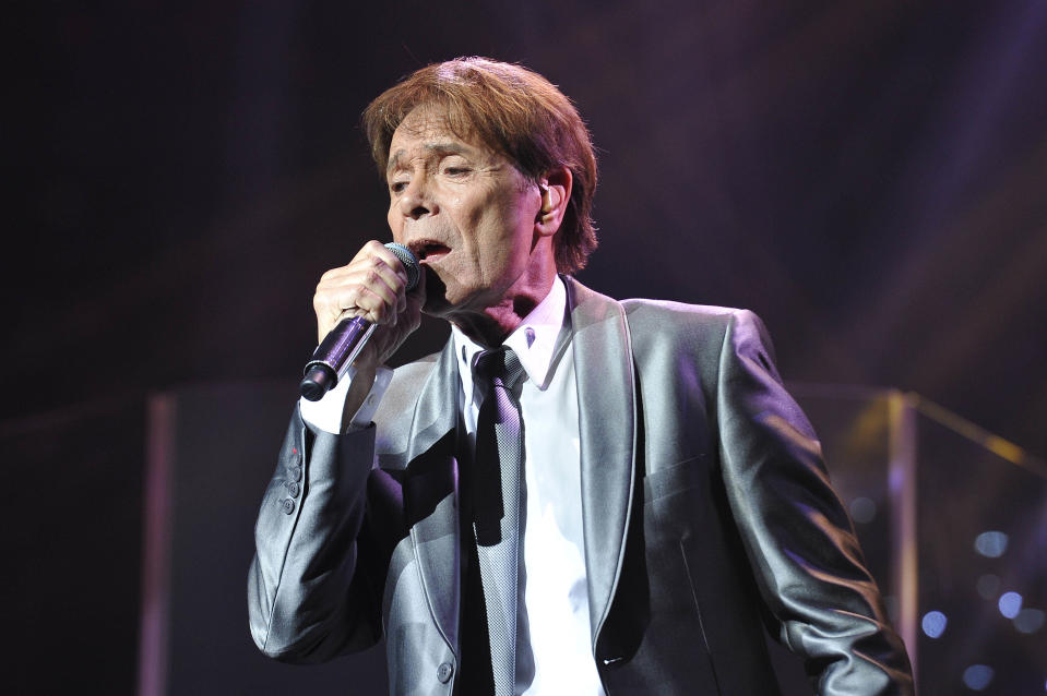 Photo by: KGC-138/STAR MAX/IPx 2015 10/16/15 Sir Cliff Richard performing at the Royal Albert Hall. (London, England, UK)