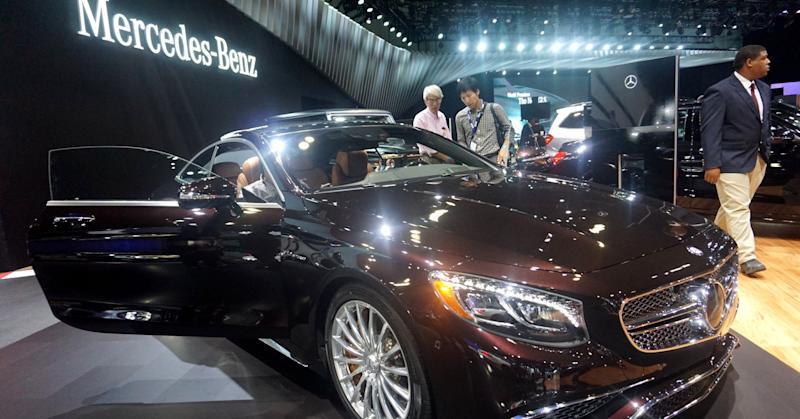 Mercedes AMG S65 Coupe is seen during Auto show at the LA Convention center in Los angeles, USA on November 18, 2015.